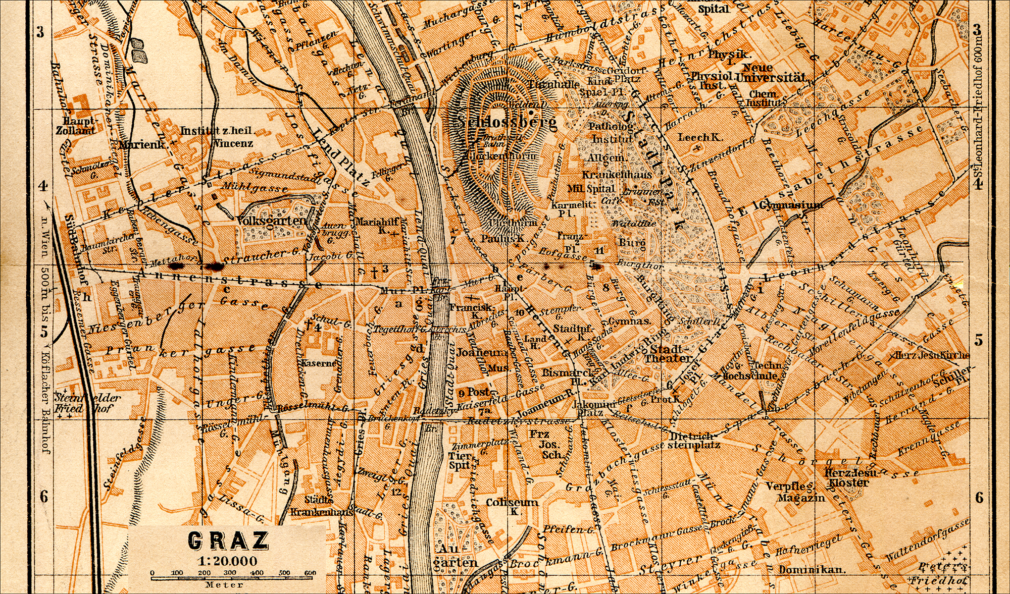 Free Maps Of Austria - Graz austria map