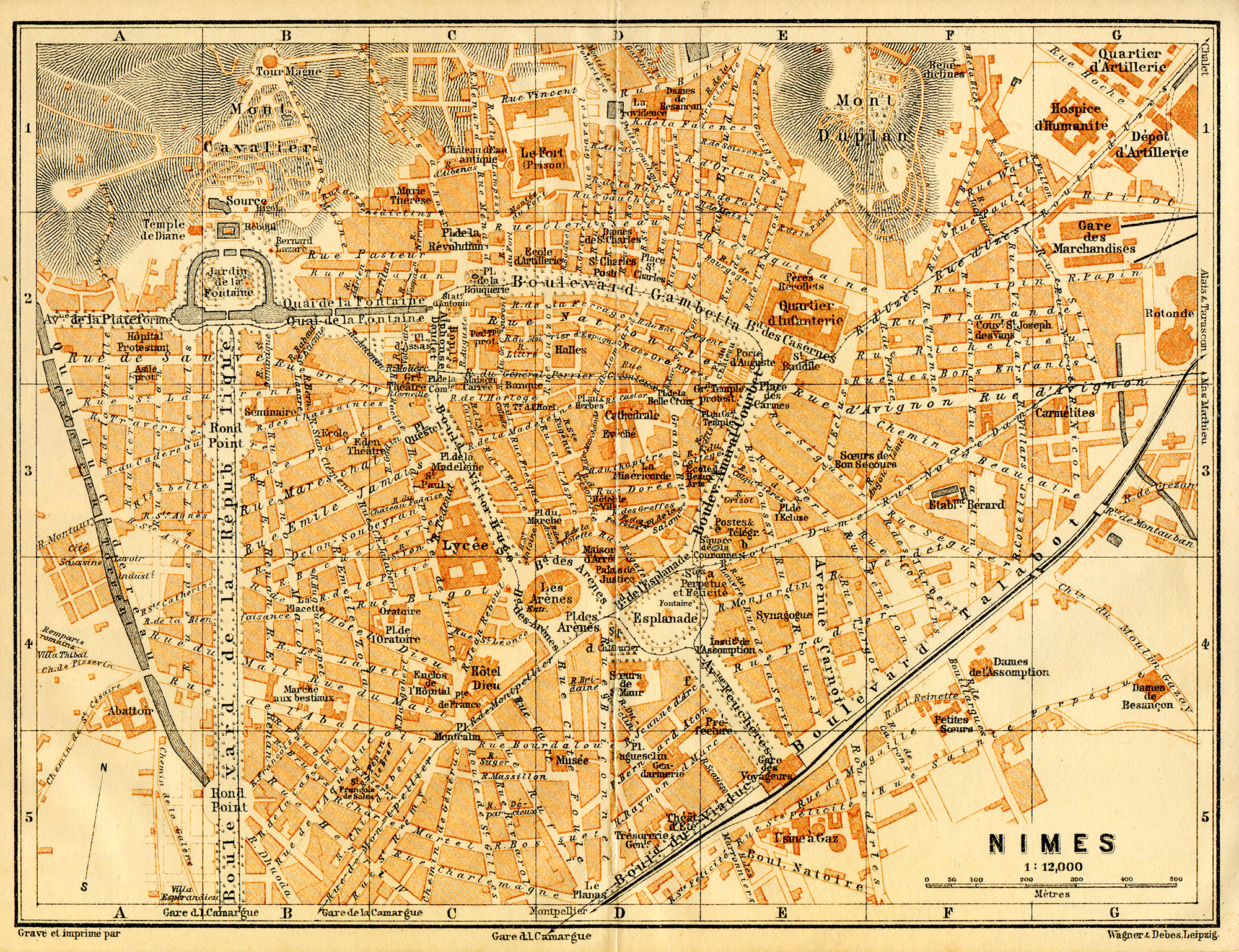 Nimes France  city images : Nimes France Map Image