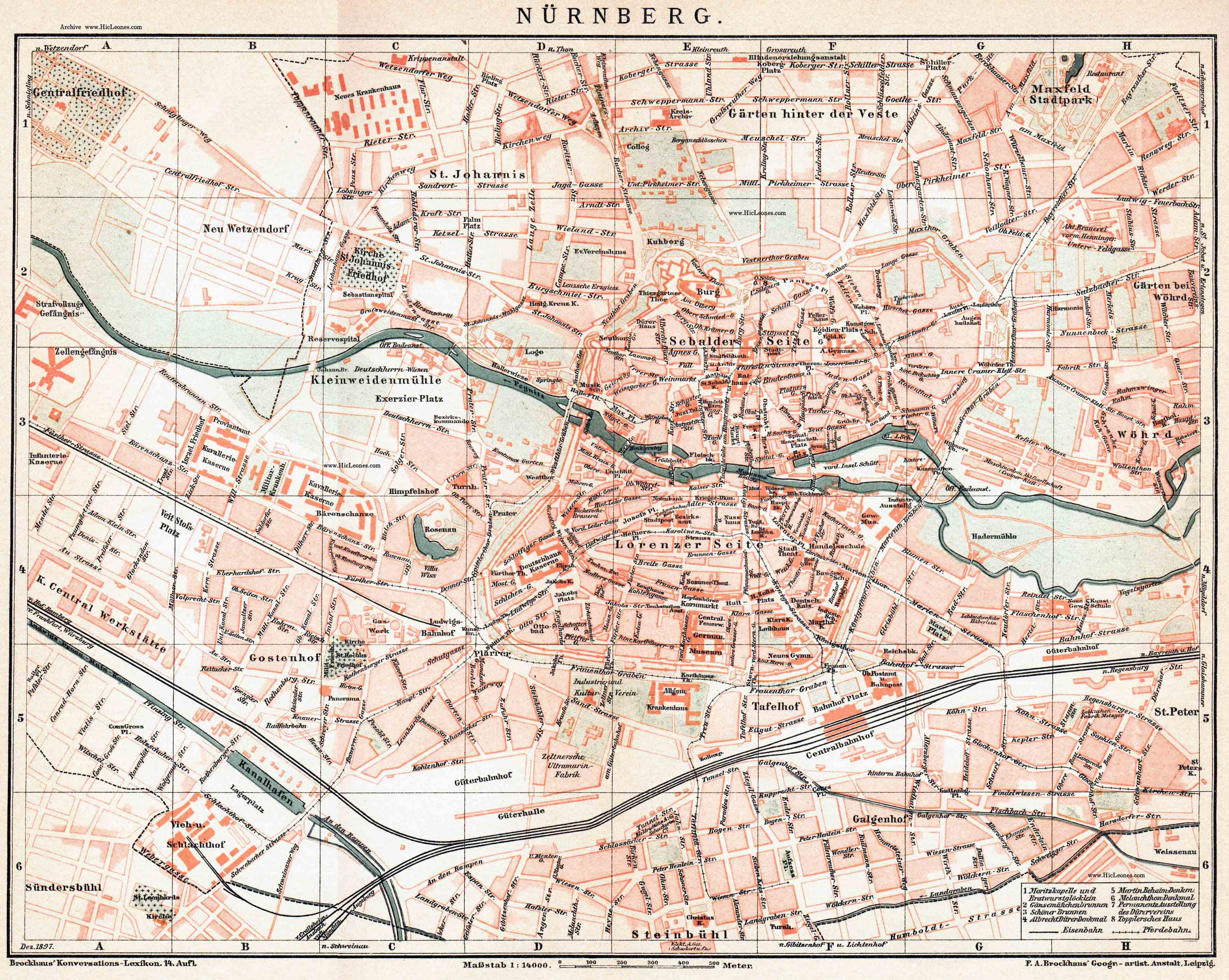 another nuremberg map in the public domain royalty free