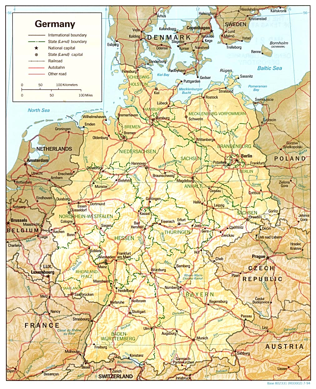 Free Maps Of Germany