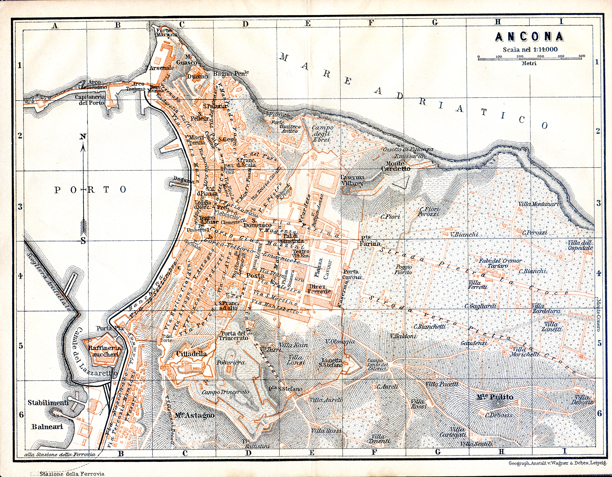 Free Maps Of Northern Italy - Map of ancona italy