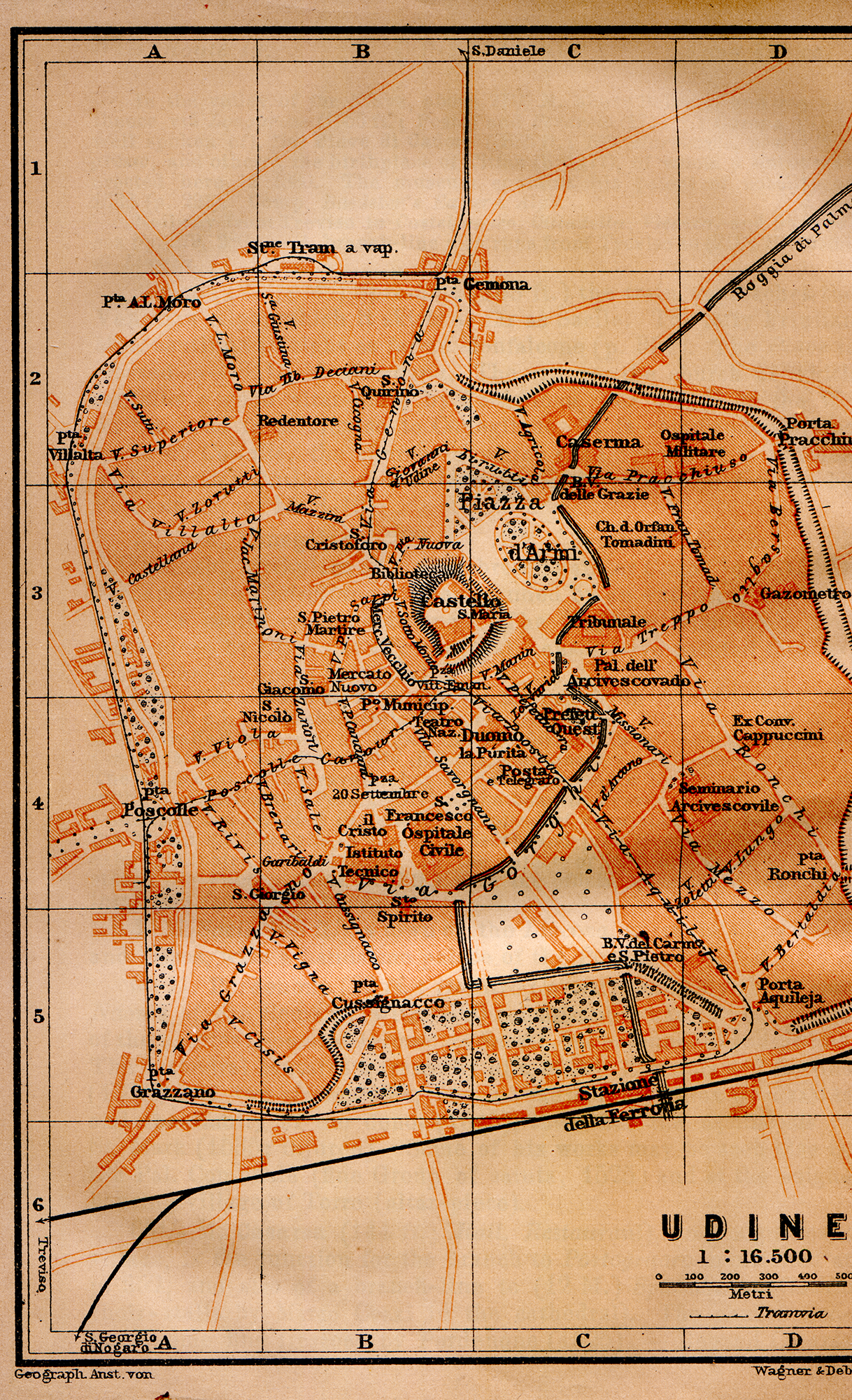 Free Maps Of Northern Italy - Udine map