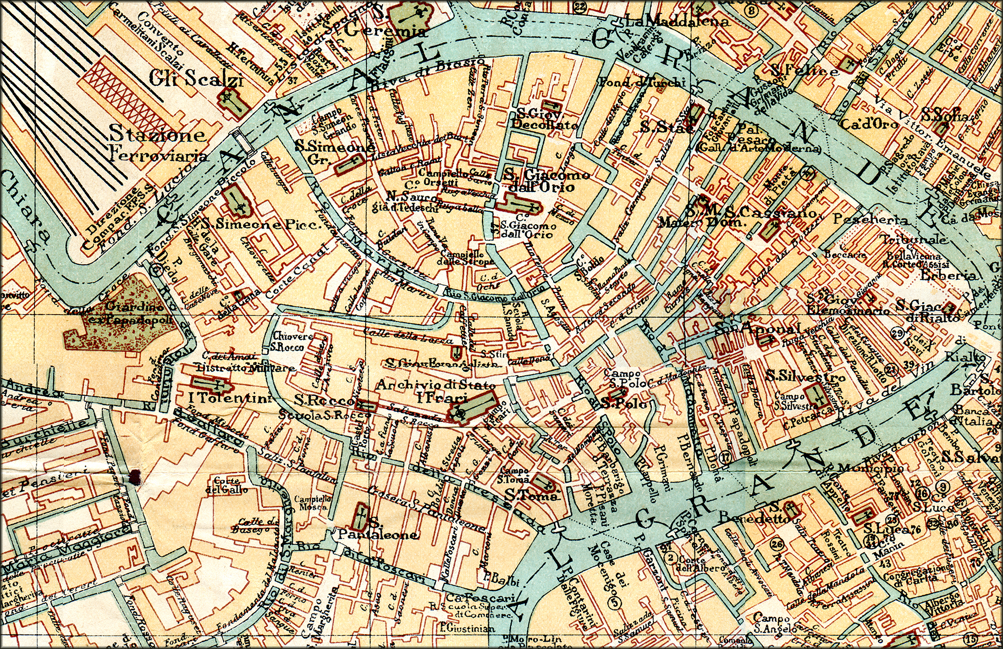 Free Maps Of Venice - Venice san marco map