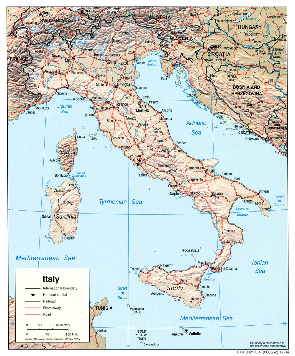 Free maps of italy italy map gumiabroncs Choice Image