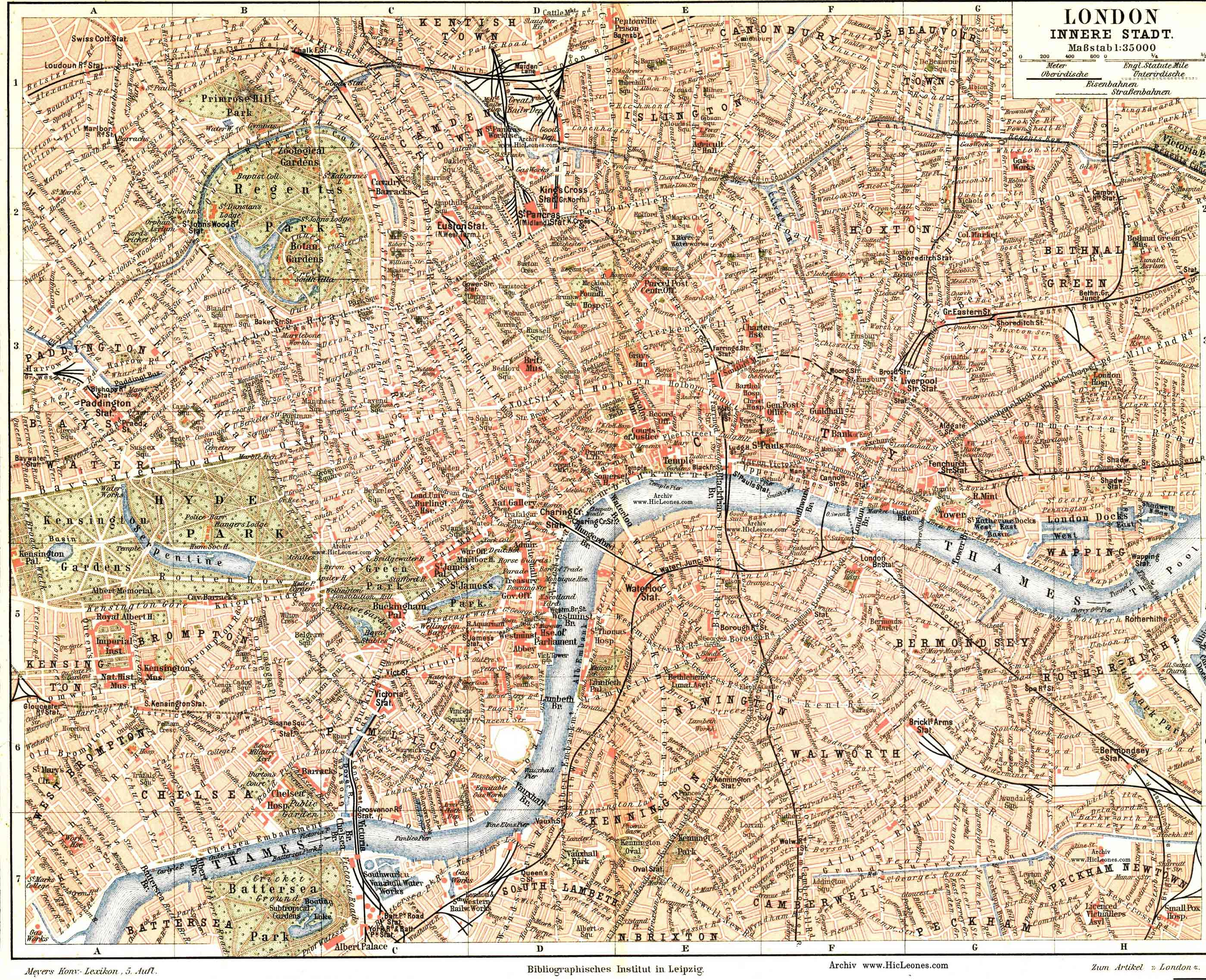 London Center Map.Free Maps Of London And England